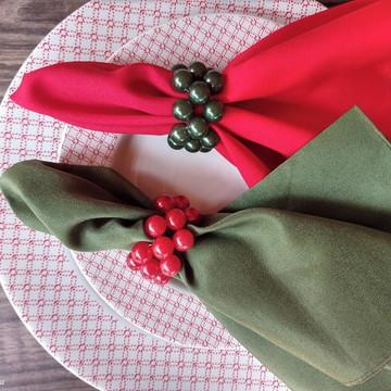porta guardanapo perolas natalino