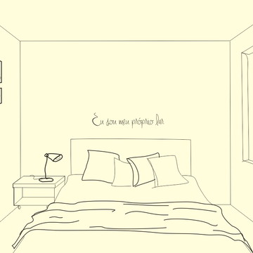 Frase de parede (arame) - Eu sou meu próprio lar