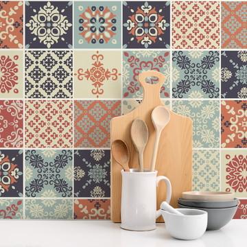 Adesivo de Azulejo Cozinha Aveiro 10x10cm 100un