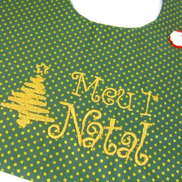 Babador Meu Primeiro Natal Verde