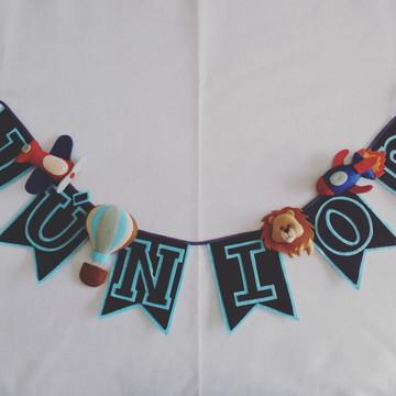 Varal de Bandeirinhas Junior - 6 letras e 4 personagens