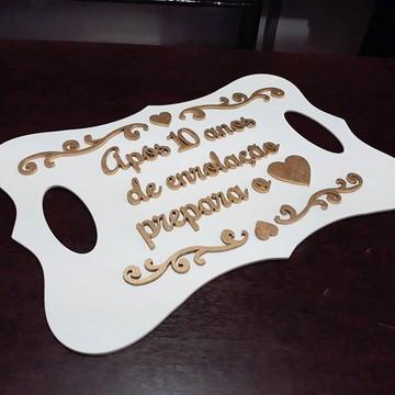 Placa p/ Entrada de Pajem ou Daminha c/ Texto Personalizado