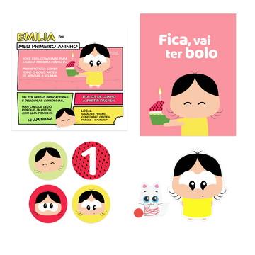 Kit Papelaria - festa infantil - Tema Magali Toy