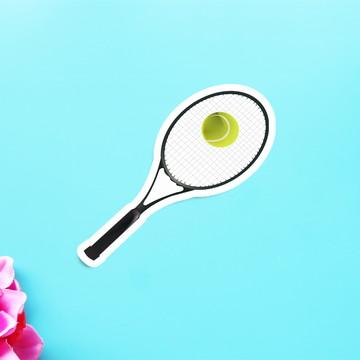 Aplique/adesivo/tag - raquete de tênis