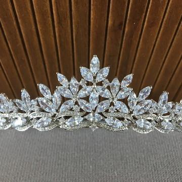 Coroa de Noiva com Zircônias - Yasmin