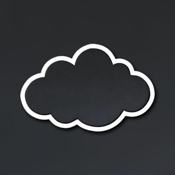 Recortes de nuvem em MDF branco