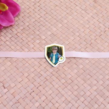 Fita com tag com foto - raquete de tênis