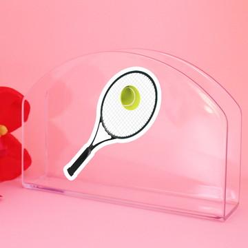 Porta-guardanapo de mesa - raquete de tênis