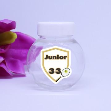 Mini-baleiro de plástico com texto - raquete de tênis