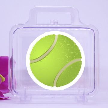68050180fa220 Maletinha de acrílico com adesivo- bola de tênis
