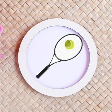 Placa/quadrinho com impressão - raquete tênis