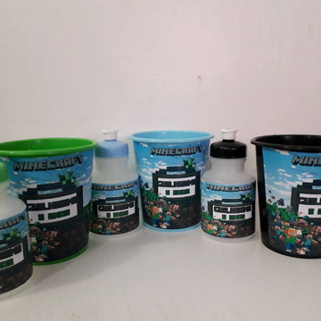 Kit balde e squeeze minicraft