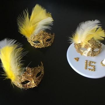 Decoração para Bolo tema Baile de máscaras