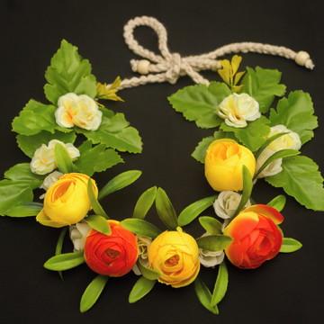 Coroa de flores para cabeça