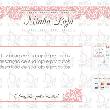 Kit Digital Elo7 - Renda Rosa