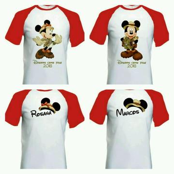 Camiseta para viagem Disney Safari raglan
