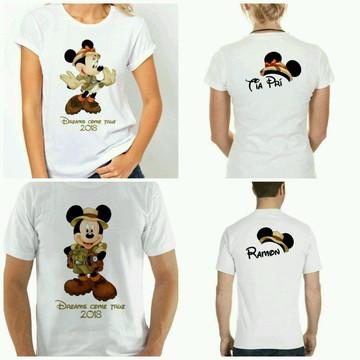 Camiseta para viagem disney safari