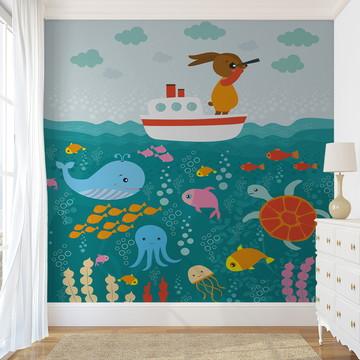 Painel de Parede - Marinheiro fundo do Mar