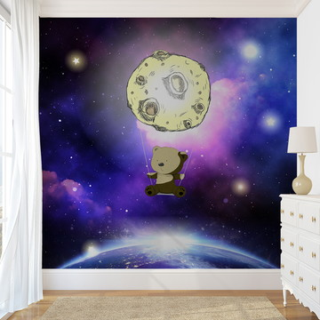 Painel de Parede - Bear and Moon