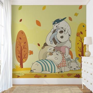 Painel de Parede - Lazy Bears