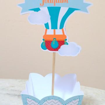 Cachepô chá de bebe balão (personalizado)