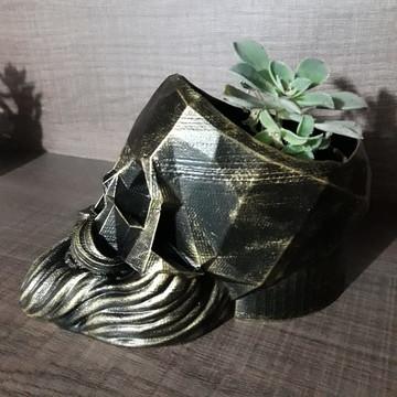 Caveira decorativa - Porta objetos, vaso de planta e outros
