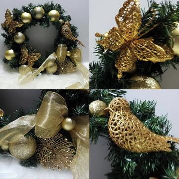 Guirlanda de Natal borboleta