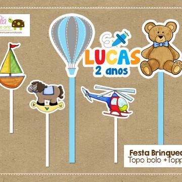 Topo bolo Festa Brinquedos