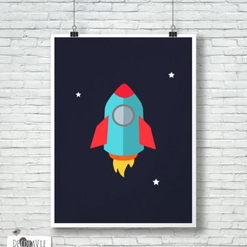 Poster - Foguete A4 (sem moldura)