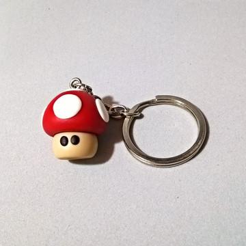 Chaveiro Cogumelo Vermelho do Super Mario