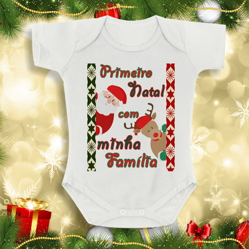Body Roupinha De Bebê Meu Primeiro Natal personalizado