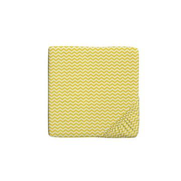 Jogo de lençol solteiro chevron amarelo 2 Peças