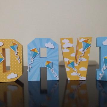 Letra 3D pipa