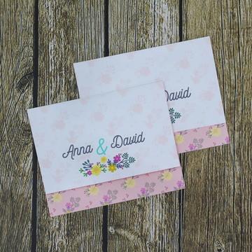 Convite de casamento floral colorido - 106D