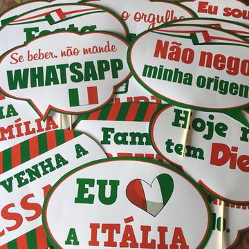 Placas para Festa Italiana