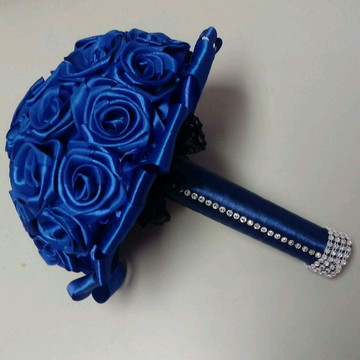 Buque de flores de cetim personalizável