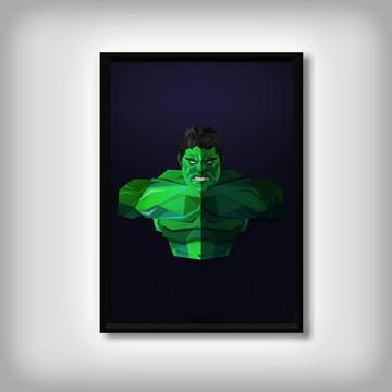 """Quadro """"Hulk Minimalista"""""""