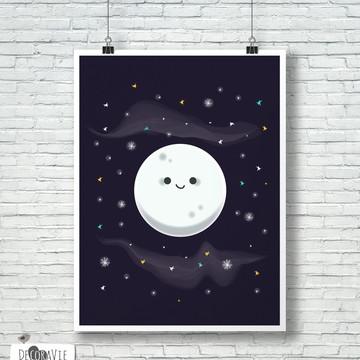 Poster - Moon A4 (sem moldura)