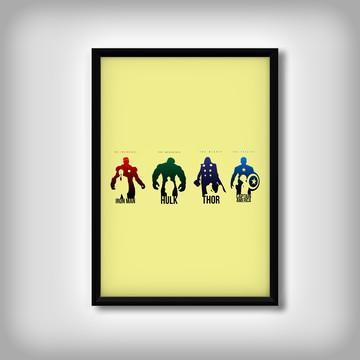 "Quadro ""Vingadores"" Minimalista"