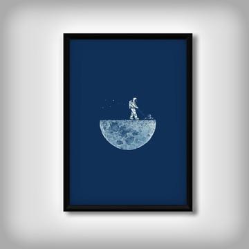 "Quadro ""Minimalista"" Lua"