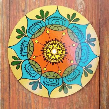 Mandala dourada - Arte pintada à mão - Infusões Art