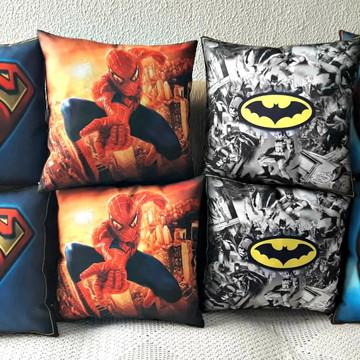 Kit com 8 almofadas super herois