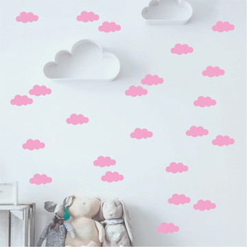 Adesivos de parede nuvens rosas