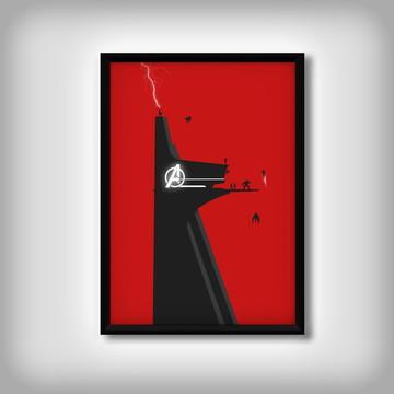 """Quadro """"Torre Stark"""" dos Vingadores"""