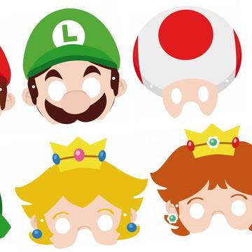 Máscaras Super Mario Bros