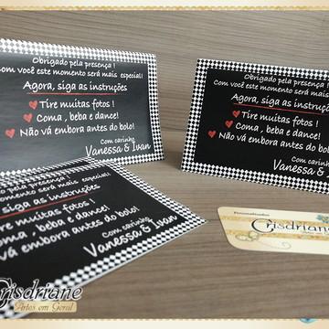 Plaquinhas de mesa Casamento
