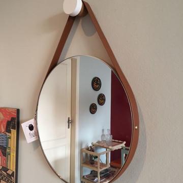 Espelho Adnet 28cm + Suporte para parede
