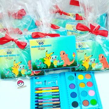 Lembrança kit pintura aquarela Pokemon