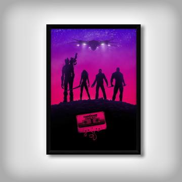 "Quadro ""Guardiões da Galáxia"" Minimalista"