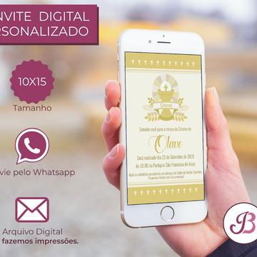 Convite Digital de Crisma para Whatsapp